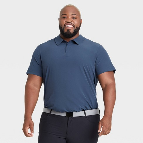 Men's Big & Tall Stretch Woven Polo Shirt - All in Motion™ - image 1 of 2