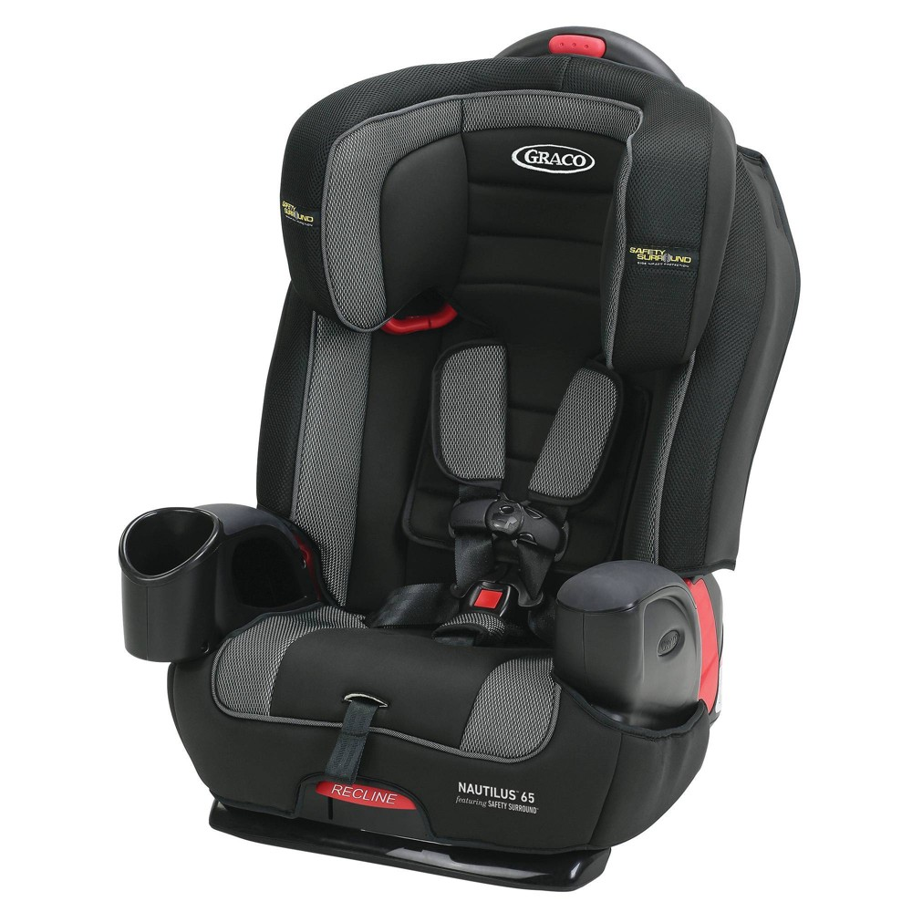 Graco Nautilus 65 3-in-1 Harness Booster Car Seat with Safety Surround - Jacks, Black