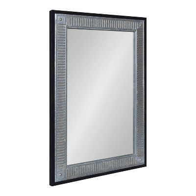 """27"""" x 39"""" Deely Rectangle Wall Mirror Black - Kate & Laurel All Things Decor"""