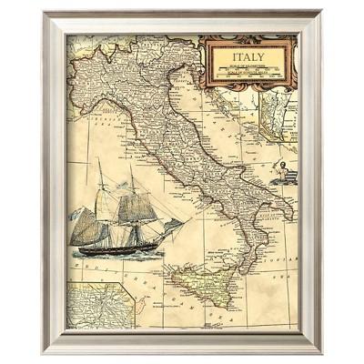 Art.com - Italy Map - Framed Print