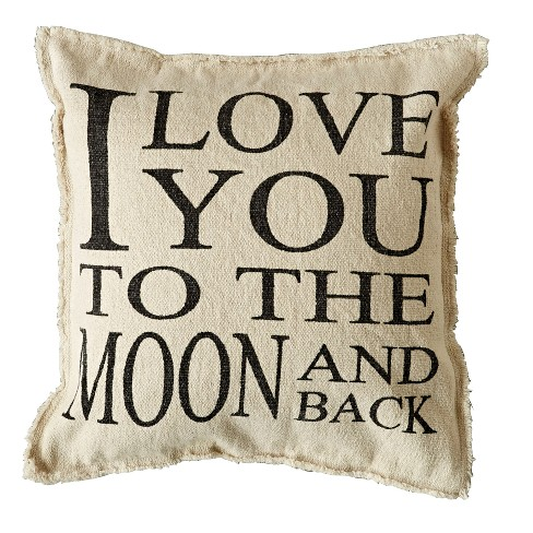 Cotton Throw Pillow I Love You To The Moon And Back 3r Studios