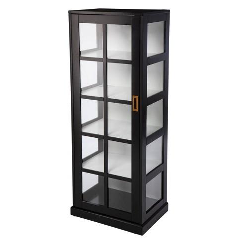 Osmisla Tall Curio Cabinet Black White, Tall Curio Cabinet