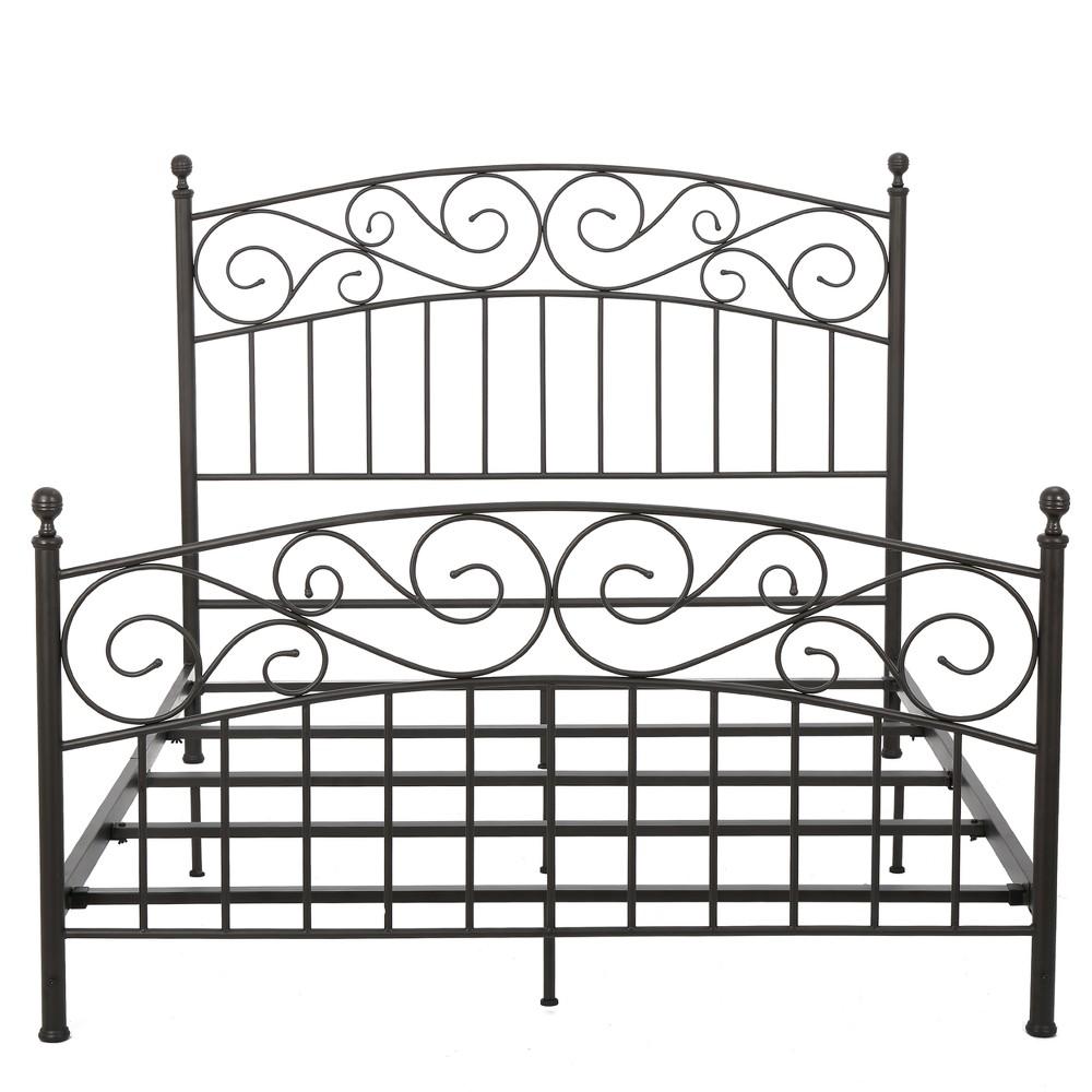Gardenia Iron Bed Set - Queen - Bronze - Christopher Knight Home