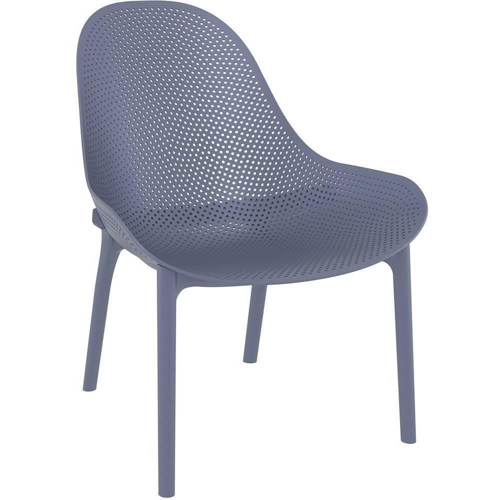 Image of 4pk Sky Lounge Patio Chair - Dark Gray - Resol