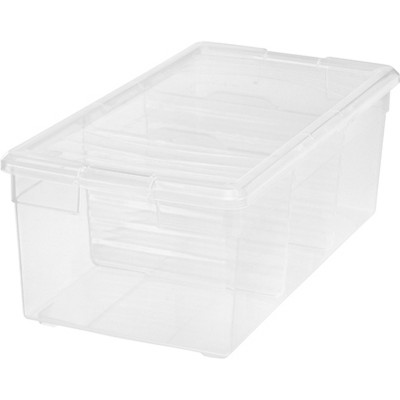 IRIS Divided Storage Box Clear
