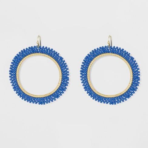 c76c50801 Beaded Seed Bead Hoop Earrings - A New Day™ : Target