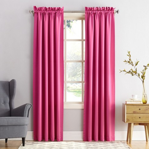 Seymour Energy Efficient Rod Pocket Curtain Panel Pink 54