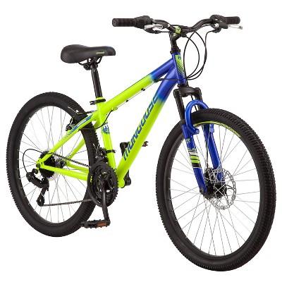 "Mongoose Scepter 24"" Kids' Mountain Bike - Green/Blue"