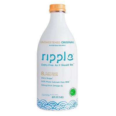 Ripple Dairy-Free Unsweetened Original Milk - 48 fl oz