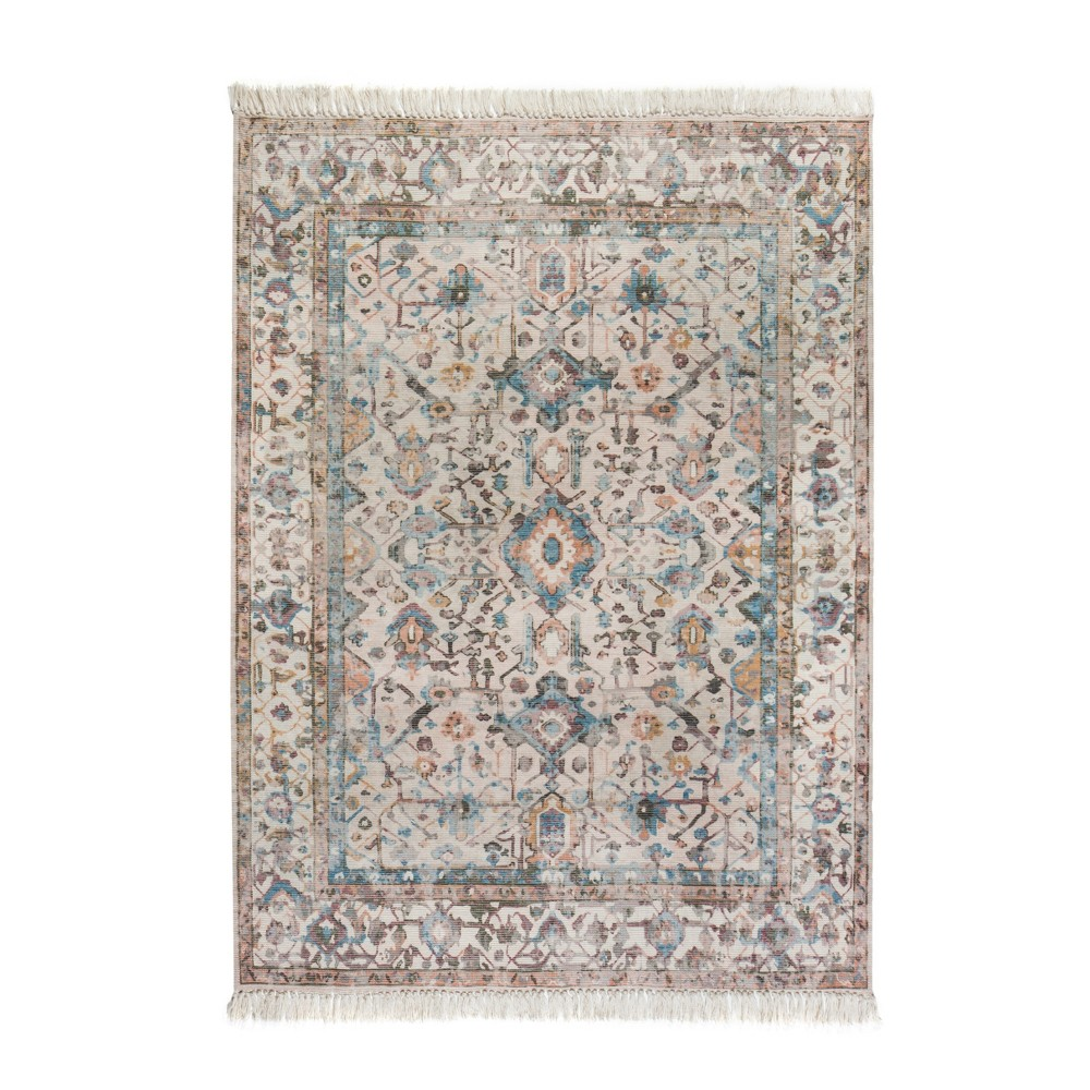 5'X7' Woven Medallion Area Rug Beige- Anji Mountain, Beige