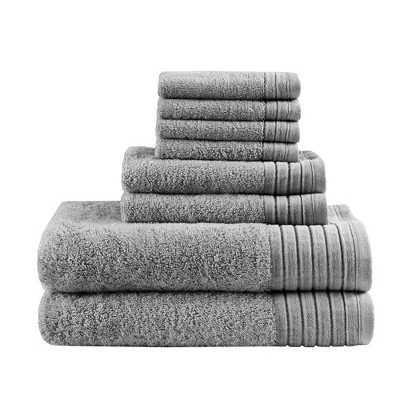 8pc Velvetine Cotton Bath Towel Set