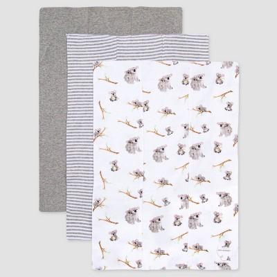 Burt's Bees Baby® Baby 3pk Koala Burp Cloth Set - Gray