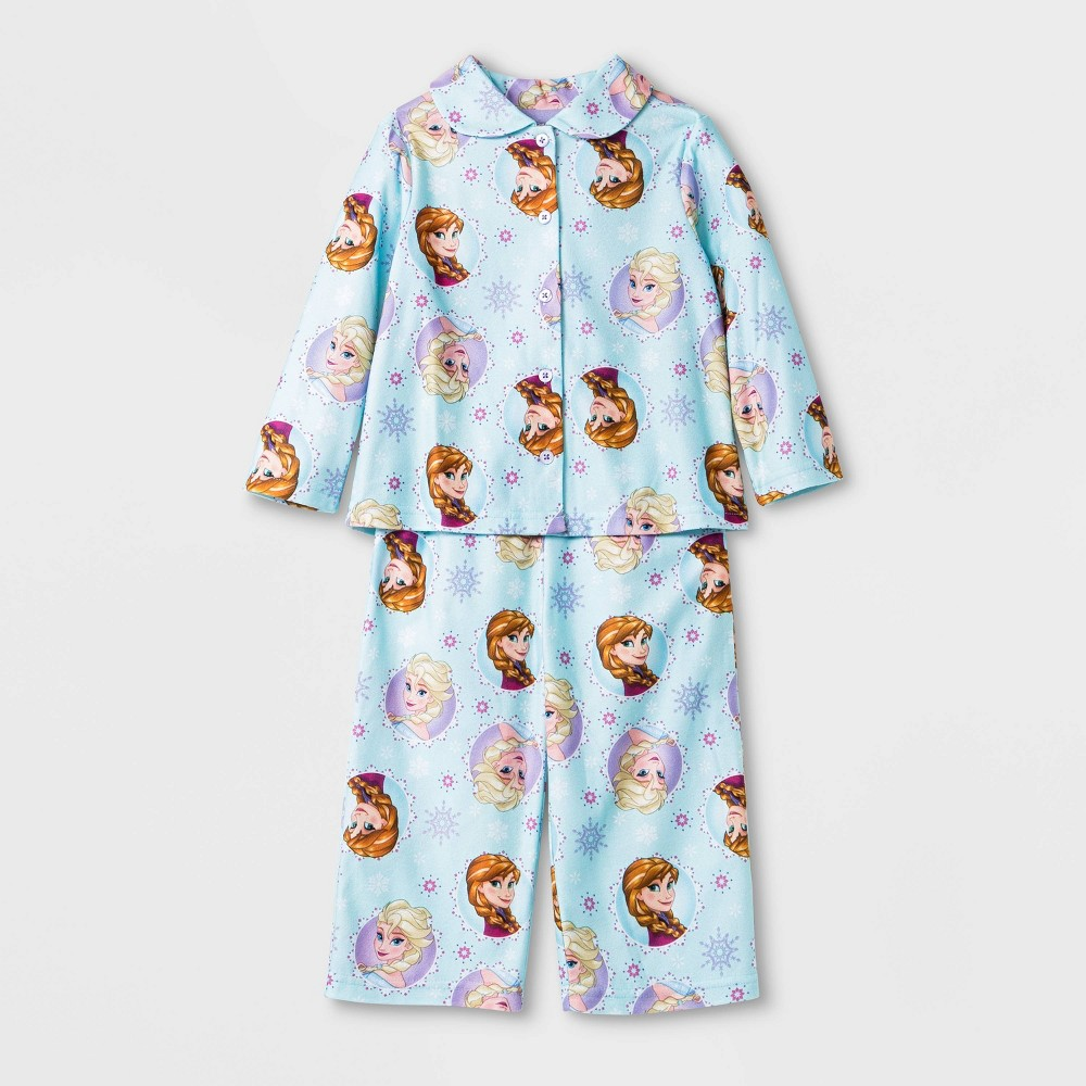 Image of Baby Girls' Frozen Coat Pajama Set - Blue 12M, Girl's