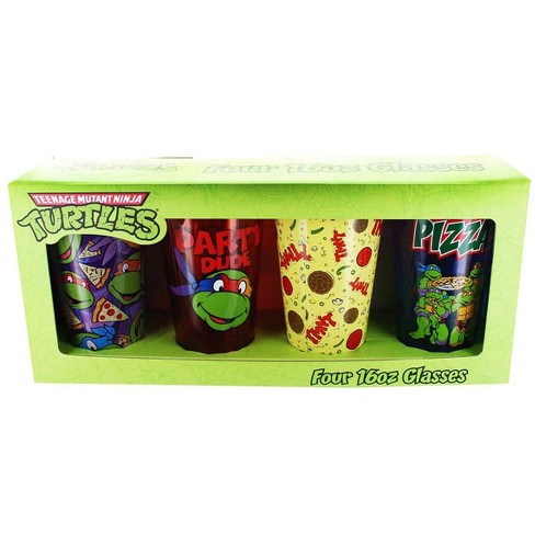 Just Funky Teenage Mutant Ninja Turtles Pizza Party 16oz Pint Glass 4-Pack - image 1 of 1