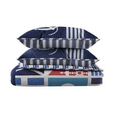 Mariner/Nautical Coastal Reversible Quilt Set