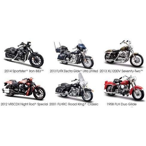 Harley Davidson Motorcycle 6pc Set Series 33 1/18 Diecast Models by Maisto - image 1 of 1