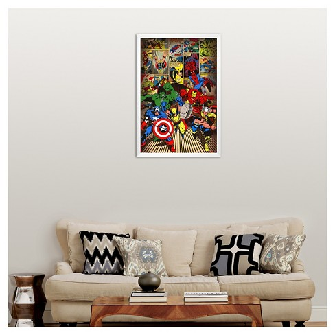Art.com Marvel-Here Come the Heroes Poster : Target