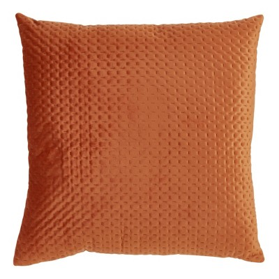 Poly Filled Pinsonic Velvet Pillow Rust - Saro Lifestyle