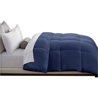 Microfiber Down Alternative Comforter (Full/Queen)Navy