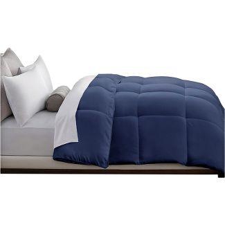 Microfiber Down Alternative Comforter (Full/Queen) Navy