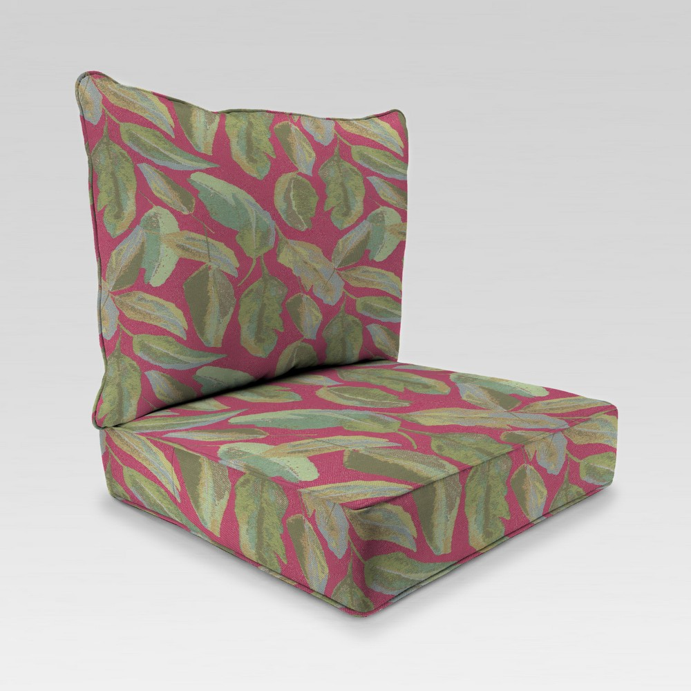 Image of 2pc Deep Seat Chair Cushion - Red - Jordan Manufacturing