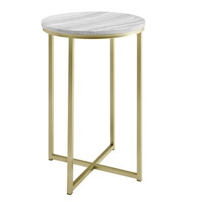 Vivian Glam X Leg Round Side Table - Saracina Home
