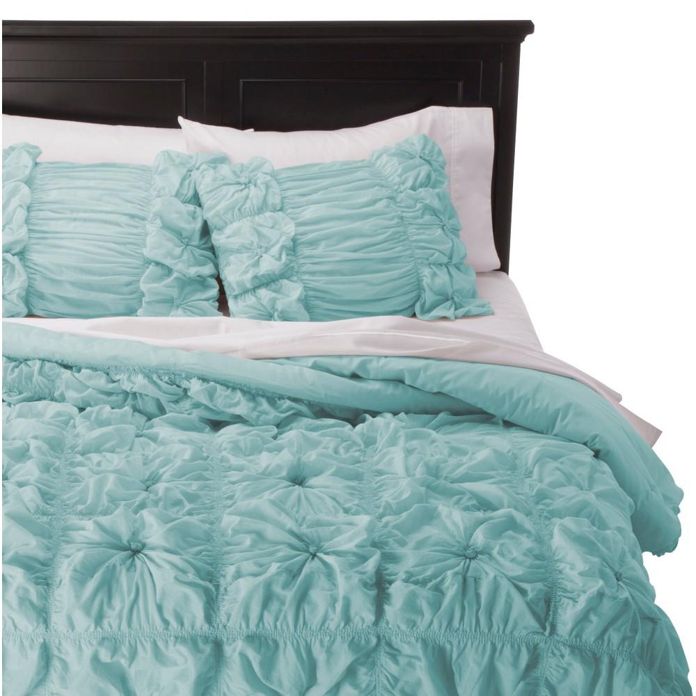Knots Texture Comforter Set - Rizzy Home, Lite Aqua