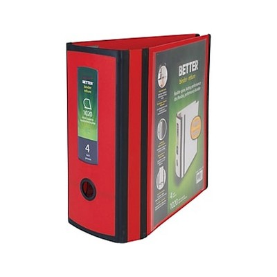 MyOfficeInnovations Better 4-inch 3 Ring View Binder Red 1618291