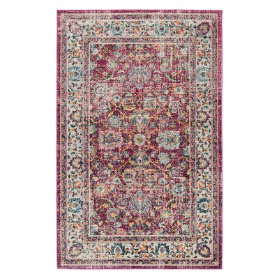 4'X6' Floral Area Rug Red - Safavieh