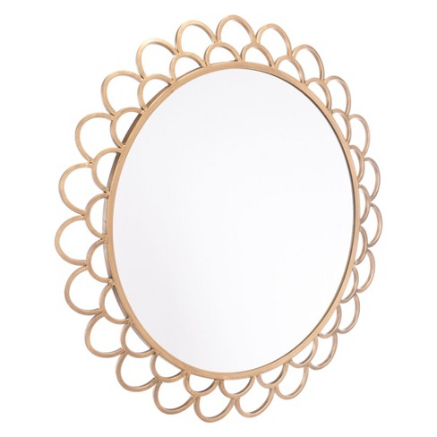 """ZM Home 23"""" Luxe Scallop Edged Mirror Gold - image 1 of 3"""