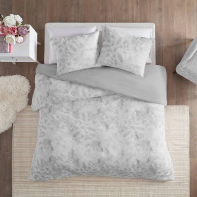 Erin Twin/Twin Extra Long 2pc Printed Jersey Knit Comforter Set Gray
