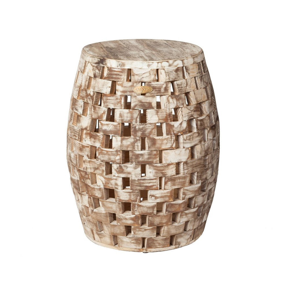Image of Maya Oval Outdoor Patio Garden Stool - Balkene Home