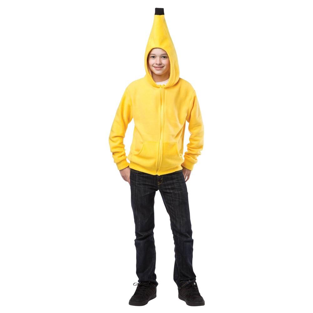 Image of Halloween Kids' Banana Hoodie Halloween Costume Top M, Adult Unisex, Size: Medium, MultiColored