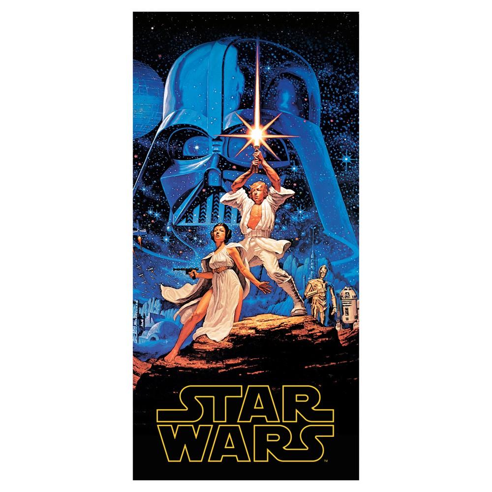 Luke Skywalker Beach Towel Blue - Star Wars
