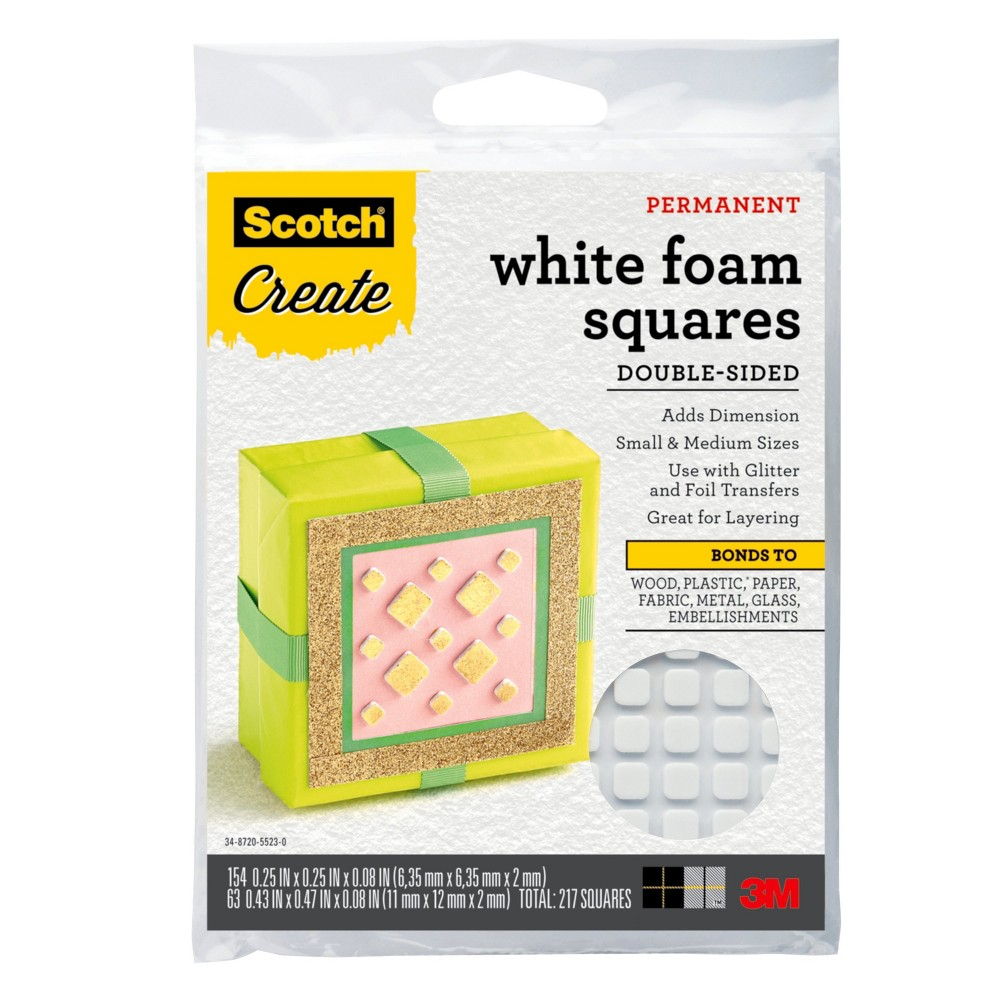 Adhesive Foam Squares 4 x 5 - Scotch Create, Blue