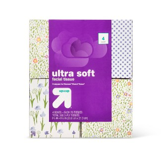 Ultra Soft Facial Tissue - 4pk/75ct - (Compare to Kleenex) - Up&Up™