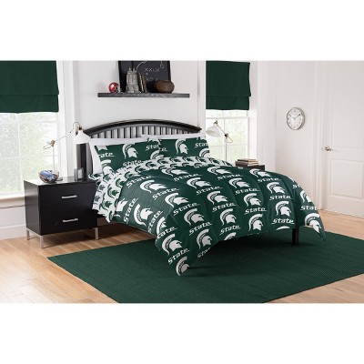 NCAA Michigan State Spartans Rotary Bed Set