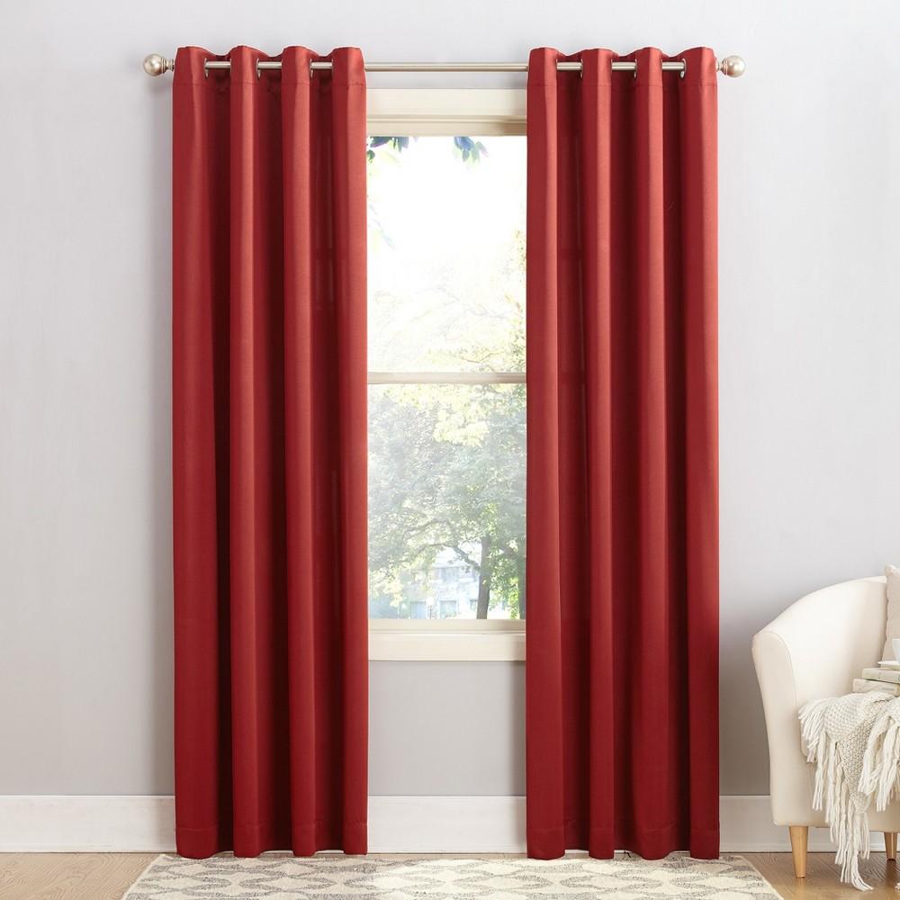 Seymour Energy Efficient Grommet Curtain Panel Brick 54