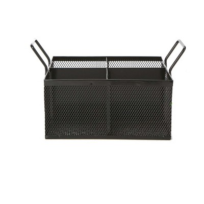 Mind Reader 4 Section Mesh Cutlery Caddy, Black