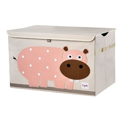 Hippo Collapsible Storage Toy Bin - 3 Sprouts