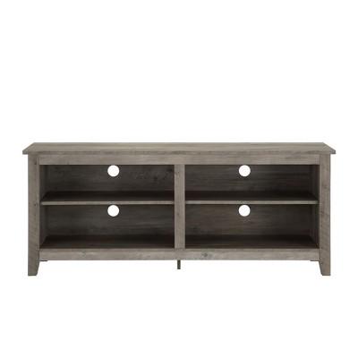 """58"""" Rustic Weathered Wood TV Stand Gray Wash - Saracina Home"""