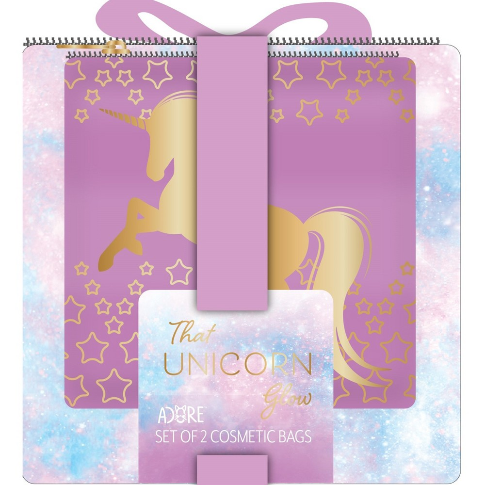 Image of Adore That Unicorn Bag Set - 2pc, Blue Pink