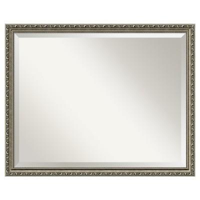 """30"""" x 24"""" Parisian Silver Framed Wall Mirror - Amanti Art"""