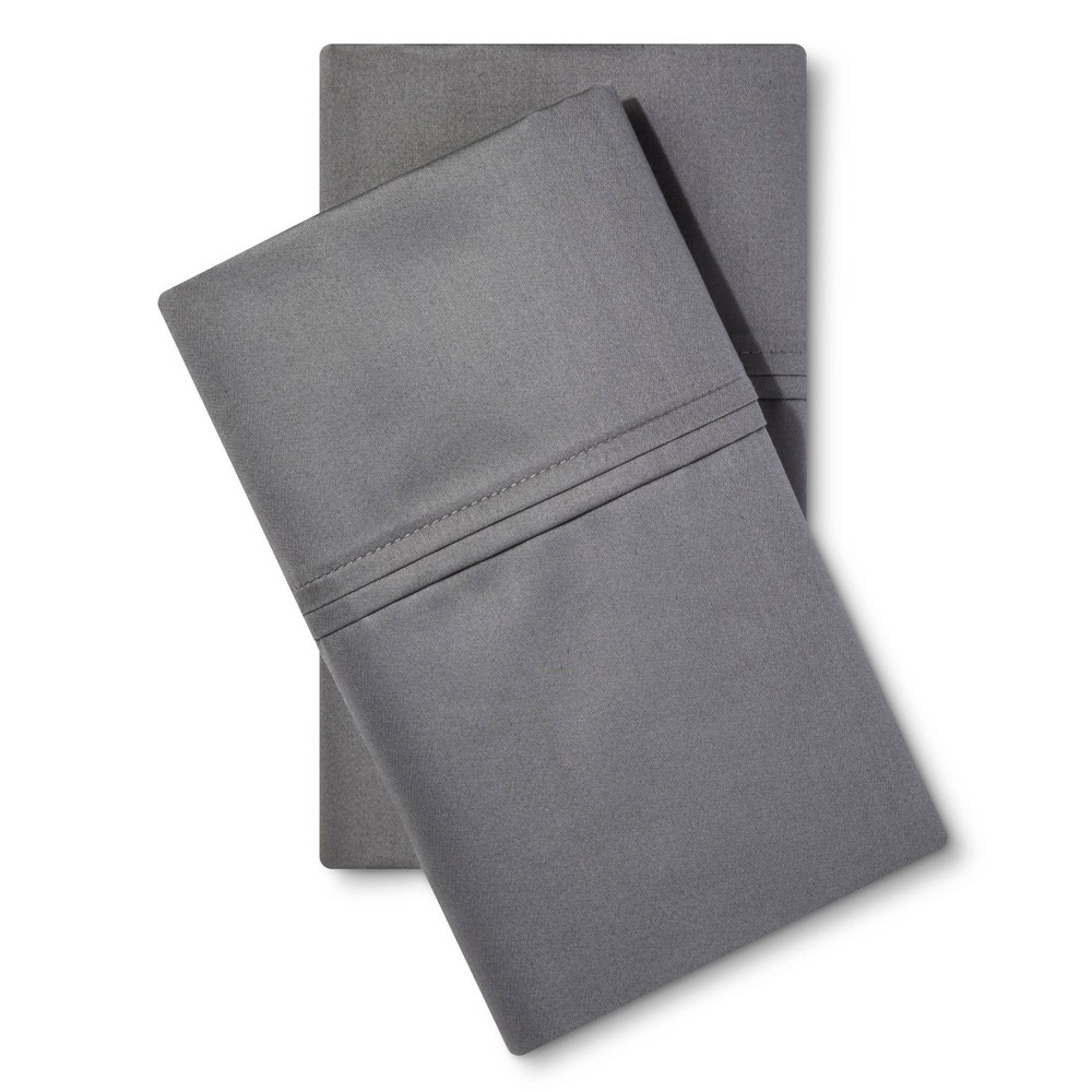King 400 Thread Count Performance Pillowcase Set Dark Gray Threshold 8482