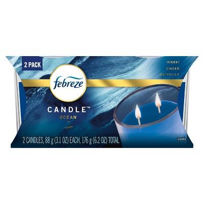 Febreze Candle Odor-Eliminating Air Freshener Ocean -2ct