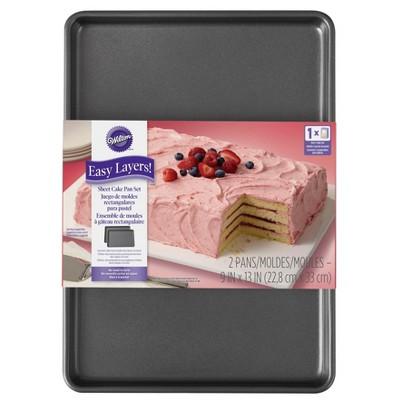 Wilton 2pc Easy Layers! Sheet Cake Pan Set