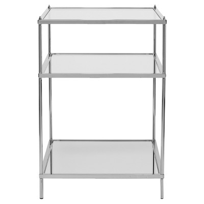 Benton Glam Mirrored Side Table - Chrome - Aiden Lane : Target