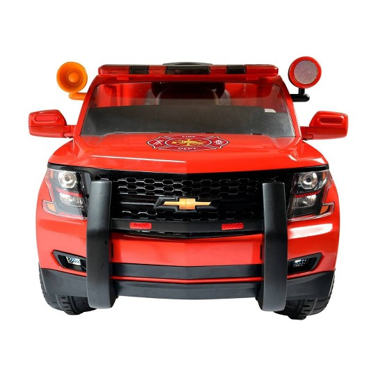 Rollplay 6V GMC Yukon Denali Fire Rescue Powered Riding Toy image number null