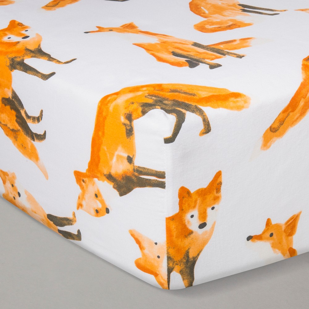Crib Fitted Sheet Cloud Island 8482 Foxes