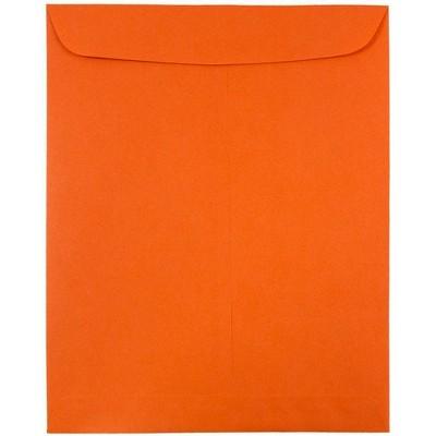 JAM Paper 50pk 9 x 12 Open End Catalog Envelopes - Orange Recycled